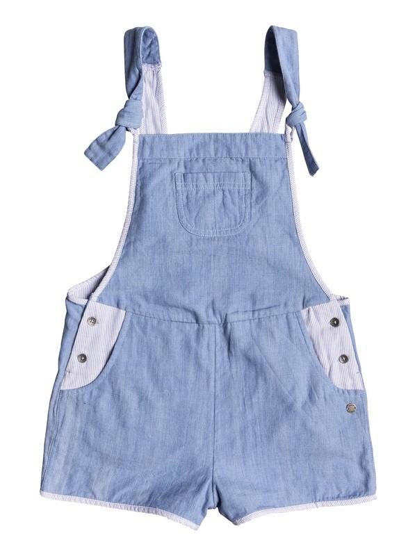 0 Girl's 7-14 Glitter Mane Dungaree Romper Blue ERGWD03033 Roxy
