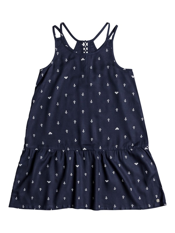 0 Girls 7-14 Moments Of Time Strappy Dress Blue ERGWD03041 Roxy