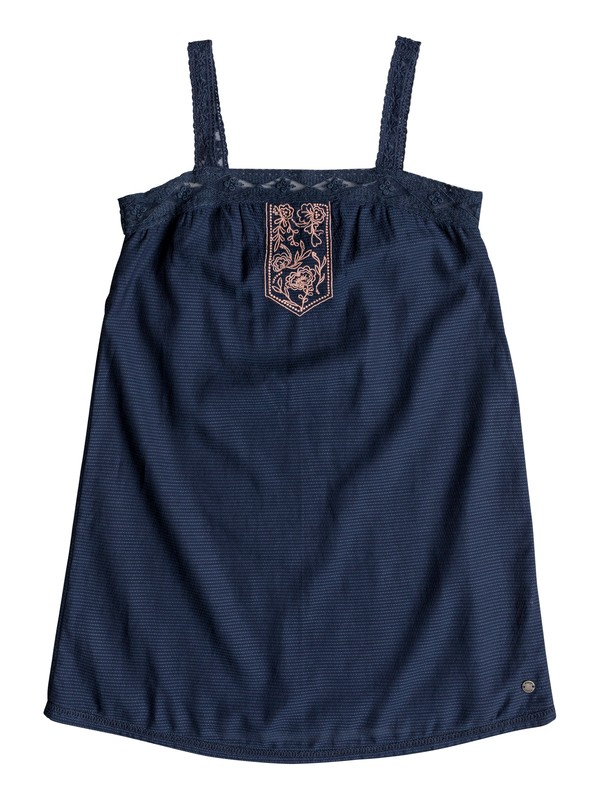 0 Girl's 7-14 Miss Your Smile Strappy Dress Blue ERGWD03051 Roxy