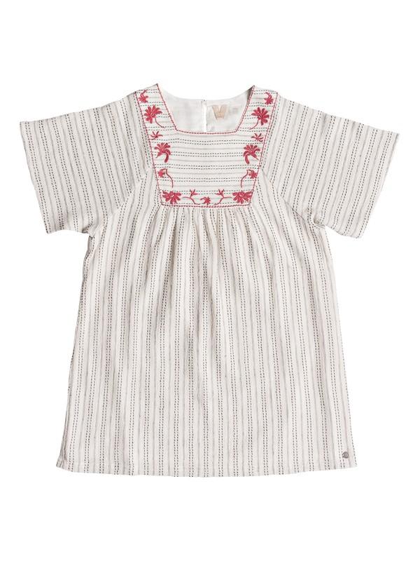 0 Girls 7-14 Give Hugs Short Sleeve Dress White ERGWD03054 Roxy