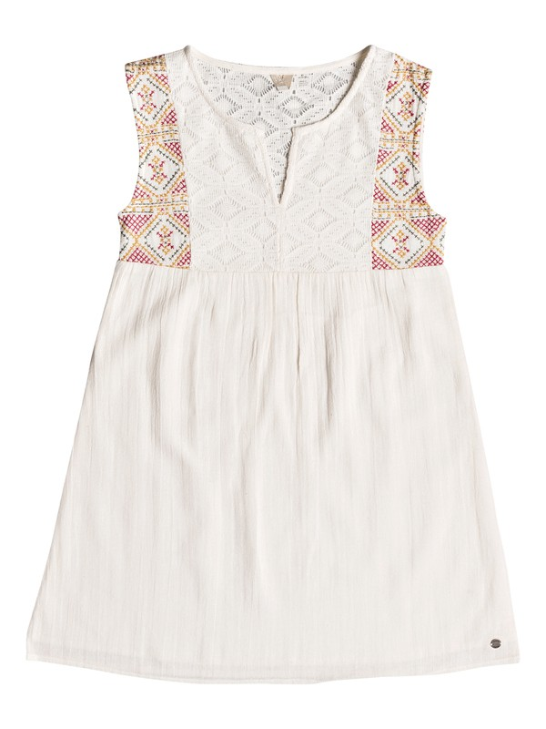 0 Girls 7-14 Second Thought Tank Dress White ERGWD03055 Roxy
