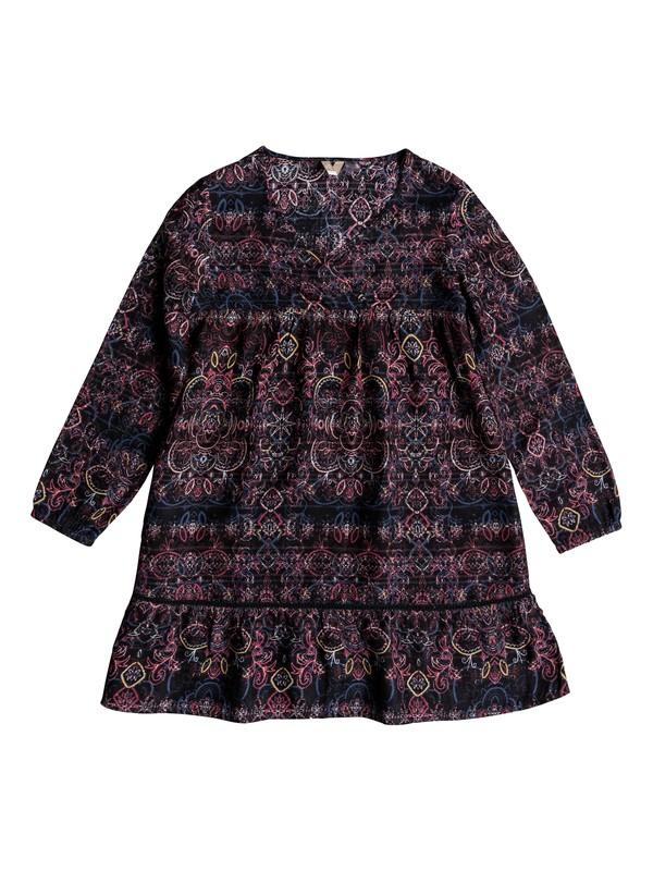 0 Girl's 7-14 September Song Long Sleeve Dress Black ERGWD03067 Roxy