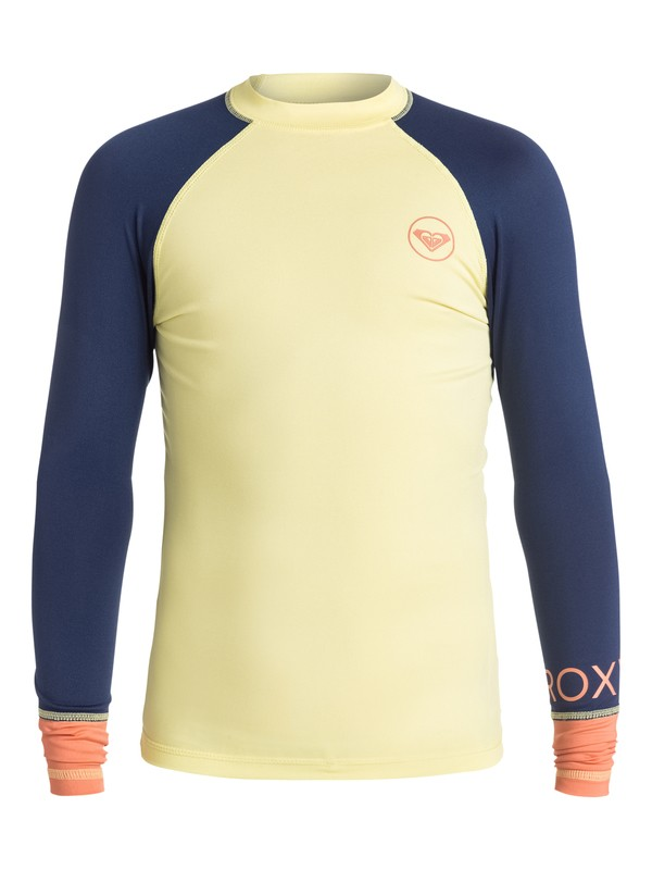 0 Girls 7-14 Sea Bound Long Sleeve Rashguard  ERGWR03003 Roxy