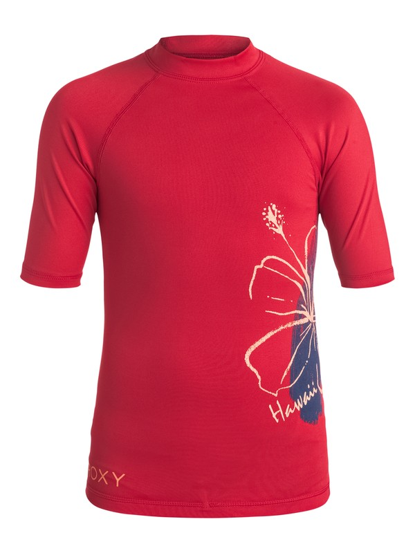 0 Girls 7-14 Aloha ROXY Short Sleeve Rashguard  ERGWR03008 Roxy