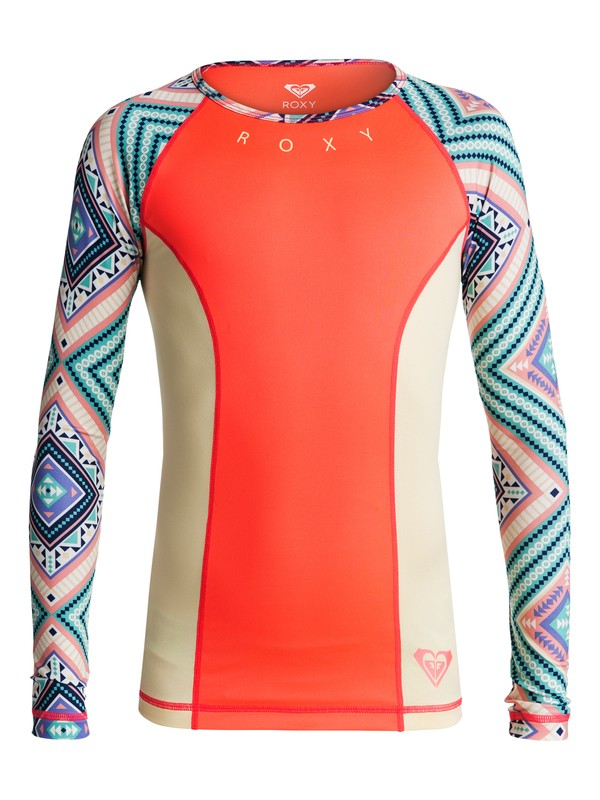 0 Girls 7-14 Four Shore Long Sleeve Rashguard  ERGWR03039 Roxy