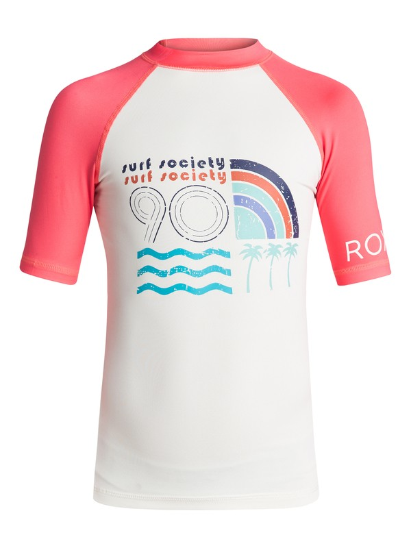 0 Girls 7-14 Sea Bound Short Sleeve Rashguard  ERGWR03040 Roxy