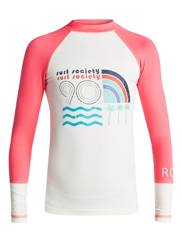 0 Girl's 7-14 Sea Bound Long Sleeve UPF 50 Rashguard  ERGWR03041 Roxy