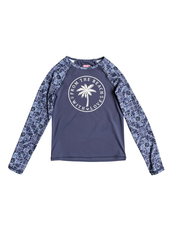 0 Girls 7-14 Perou Ditsy Long Sleeve Rashguard  ERGWR03064 Roxy