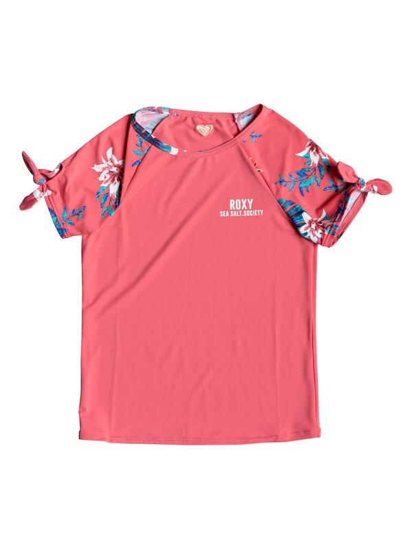 0 Girl's 7-14 ROXY Day Dream Short Sleeve UPF 50 Rashguard Pink ERGWR03117 Roxy