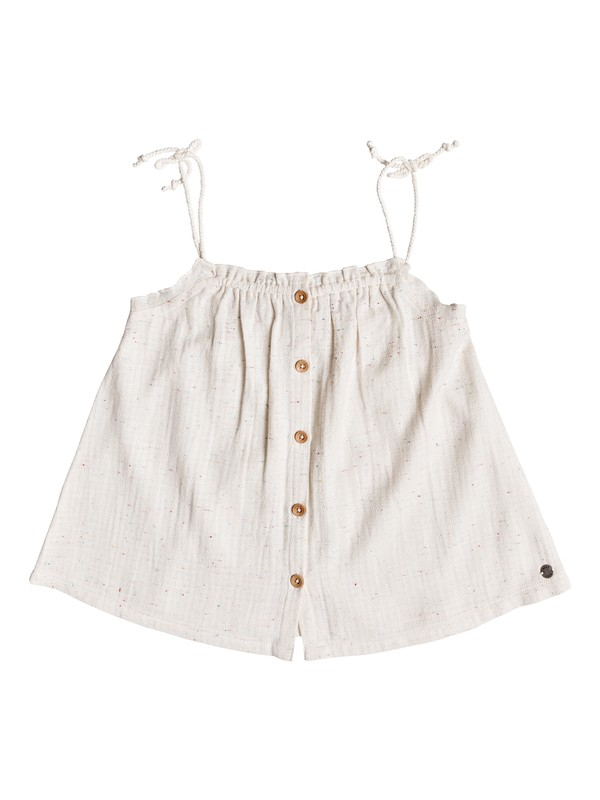 0 Girls 7-14 Depths Of My Heart Strappy Top White ERGWT03034 Roxy