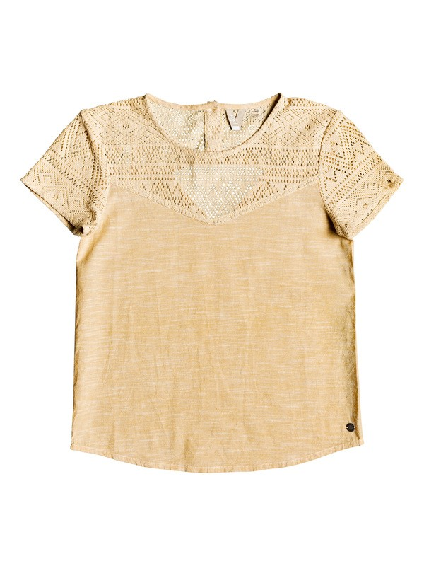 0 Girl's 7-14 Sun's Hidden Short Sleeve Top Yellow ERGWT03039 Roxy
