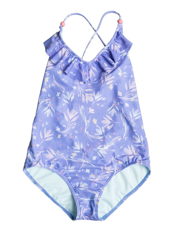 0 Girl's 7-14 Denim Babe One-Piece Swimsuit  ERGX103021 Roxy