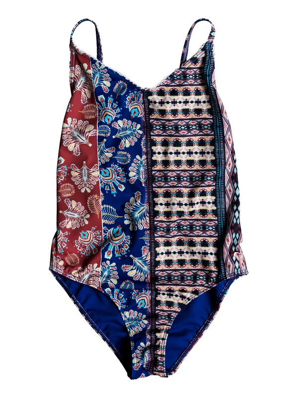 0 Girls 7-14 Boheme Life One Piece Swimsuit White ERGX103034 Roxy
