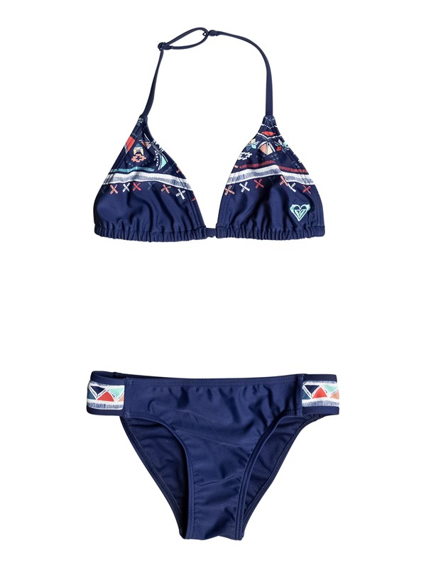 0 Girls 7-14 Little Pretty Tri Bikini Set  ERGX203060 Roxy