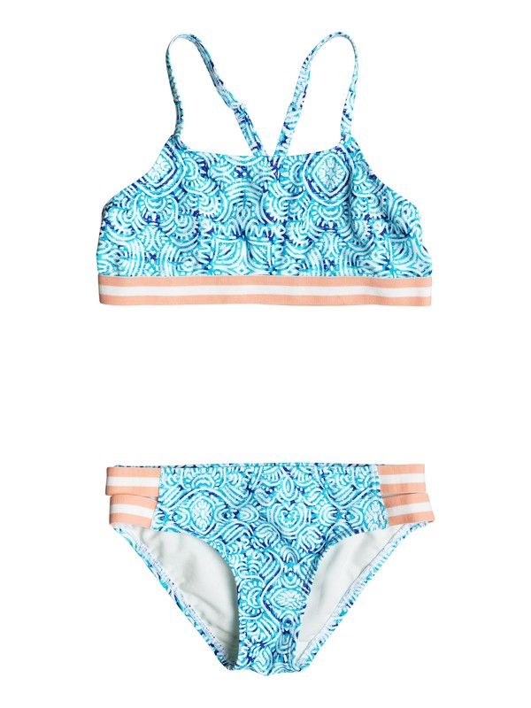 0 Girls 7-14 Caribbean Days Halter Bikini Set  ERGX203074 Roxy