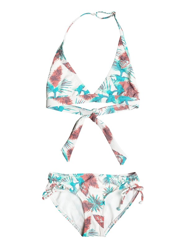 0 Girls 7-14 Salty Shade Halter Bikini Set  ERGX203079 Roxy