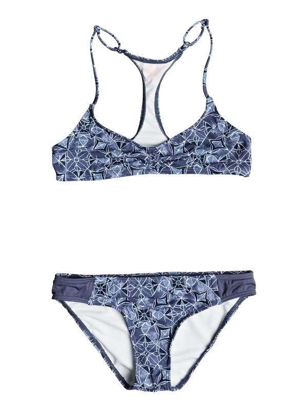 0 Girl's 7-14 Perou Ditsy Tri Halter Bikini Set  ERGX203106 Roxy