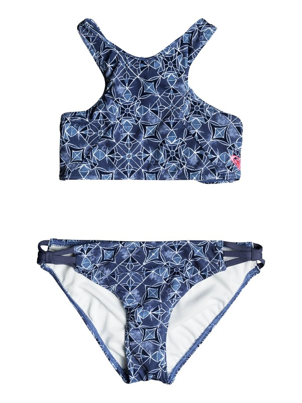 0 Girls 7-14 Perou Ditsy Crop Top Bikini Set  ERGX203107 Roxy