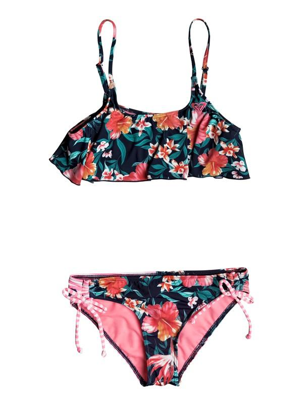0 Girls 7-14 Roxy Waves Flutter Bikini Set  ERGX203108 Roxy