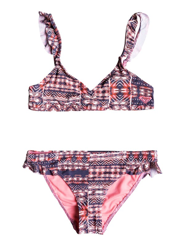 0 Girls 7-14 Wavy Beach Tri Bikini Set  ERGX203111 Roxy