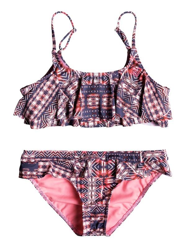 0 Girl's 7-14 Wavy Beach Flutter Bikini Set  ERGX203112 Roxy