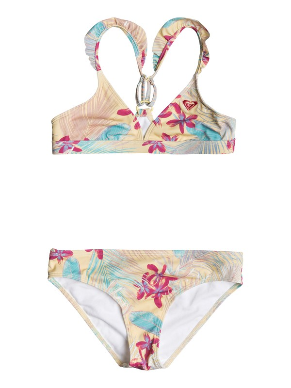 0 Girl's 7-14 Salt Memory Fixed Tri Bikini Set Yellow ERGX203126 Roxy