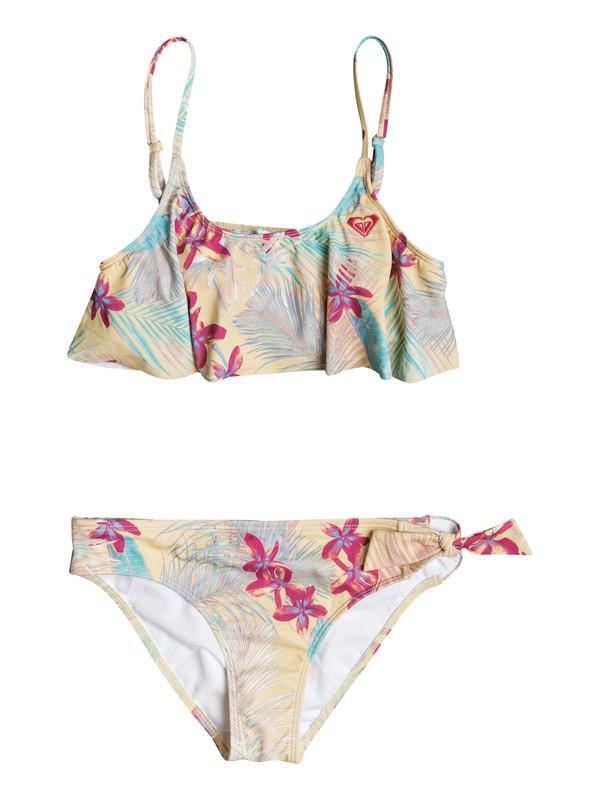 0 Girls 7-14 Salt Memory  Flutter Bikini Set  ERGX203128 Roxy