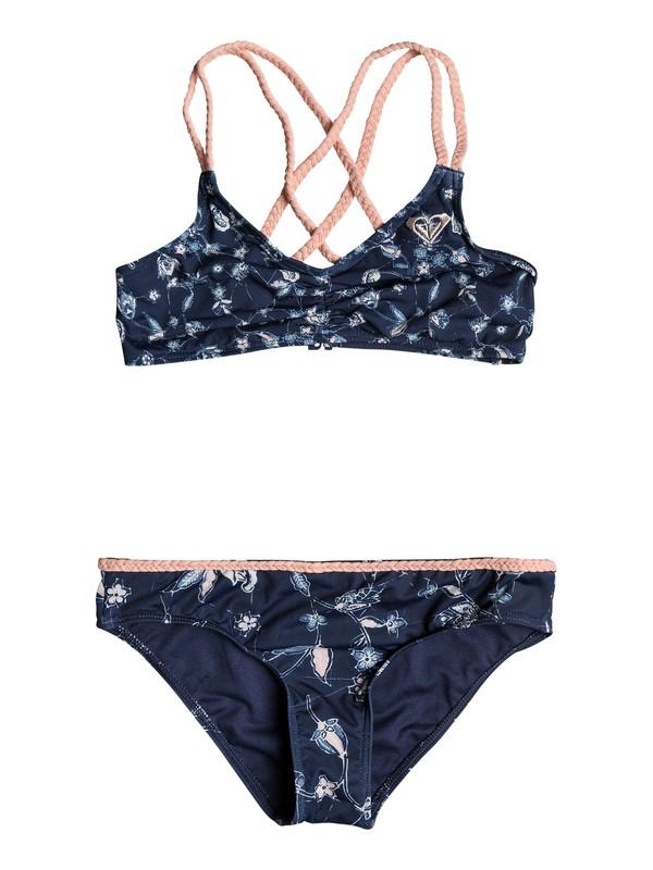 0 Girl's 7-14 Beach Days Athletic Tri Bikini Set  ERGX203129 Roxy