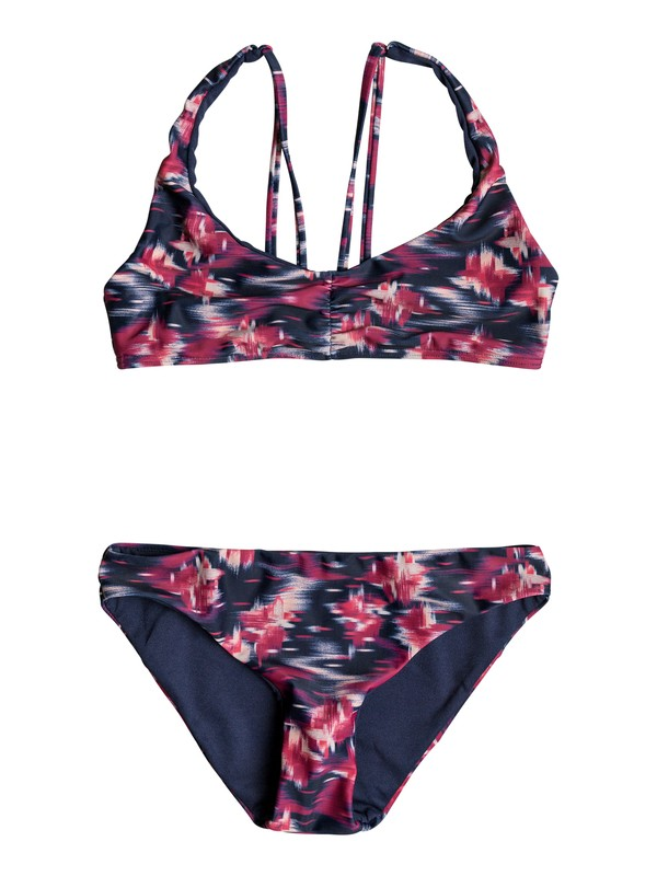 0 Girls 7-14 Tropi Sporty  Tri Bikini Set Pink ERGX203132 Roxy