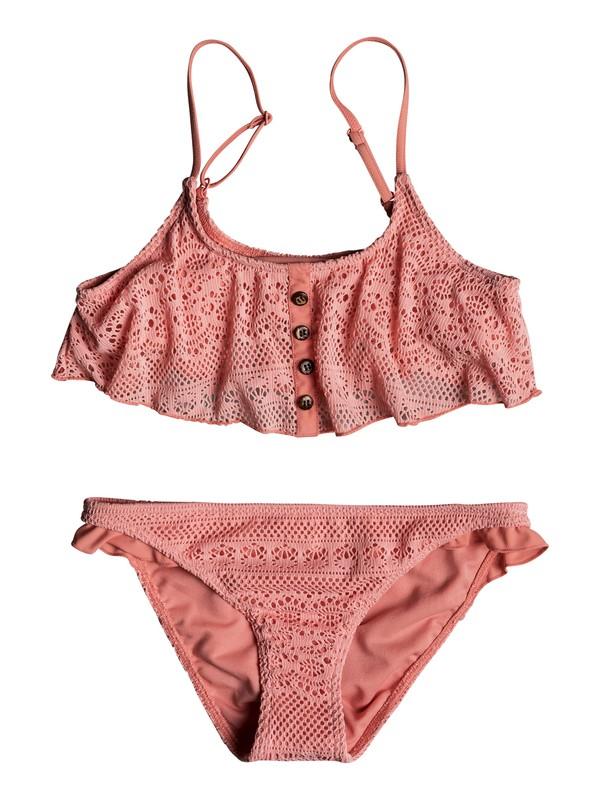 0 Girls 7-14 Faded Sun Flutter Bikini Set Pink ERGX203158 Roxy