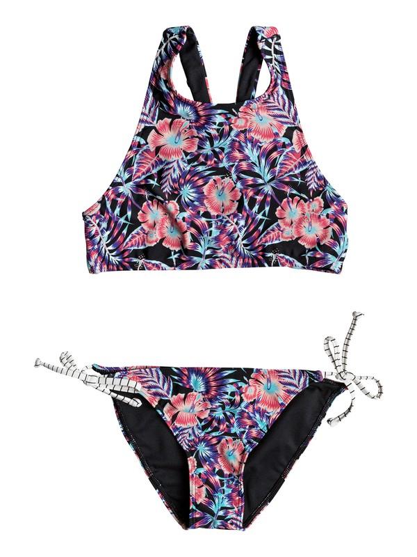 0 Girls 7-14 Surfing Miami  Crop Top Bikini Set  ERGX203164 Roxy