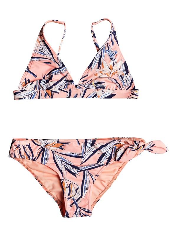 0 Niñas 7-14 Conjunto de Bikini Tri Alargado Born In Waves Rosa ERGX203170 Roxy