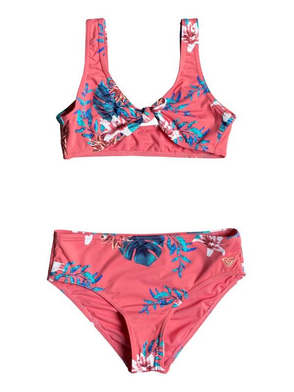 0 Conjunto de Bikini tipo triángulo fijo ROXY Day Dream Rosa ERGX203182 Roxy