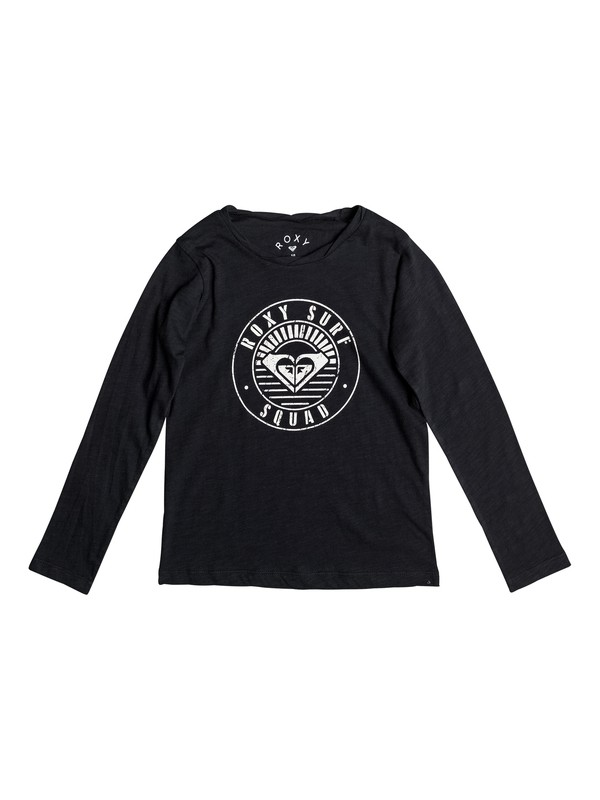 0 Gradual Awakening A - Long Sleeve T-Shirt for Girls 8-16 Black ERGZT03215 Roxy