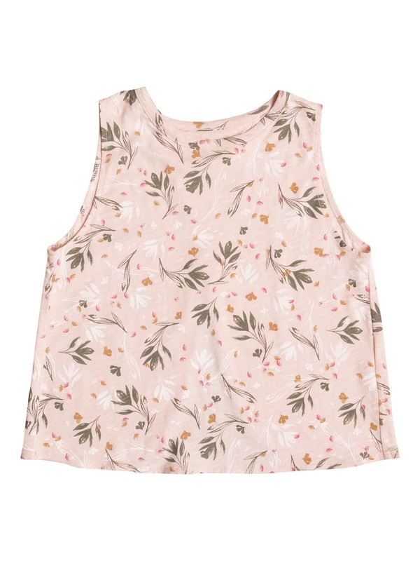 0 Girl's 7-14 Emotional Flower Sleeveless Crop Top  ERGZT03220 Roxy