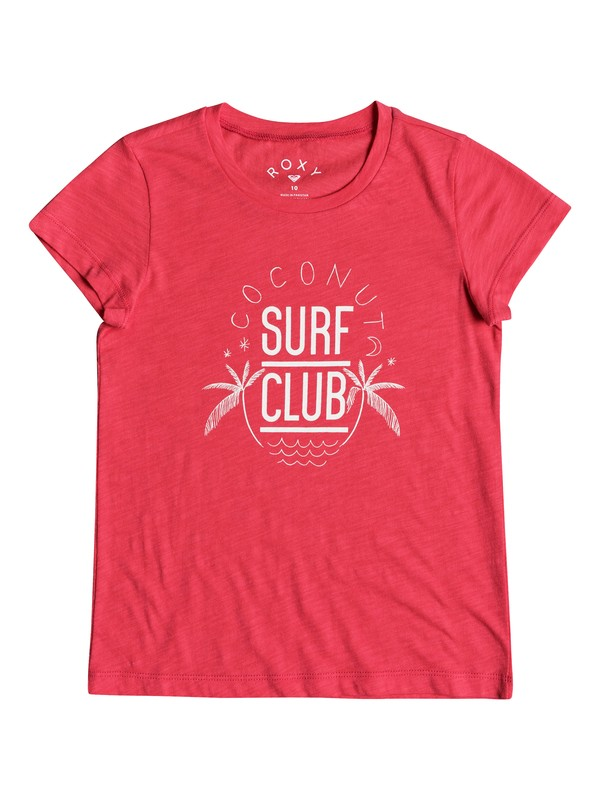 0 Girl's 7-14 Endless Music Coconut Surf Club Tee  ERGZT03274 Roxy