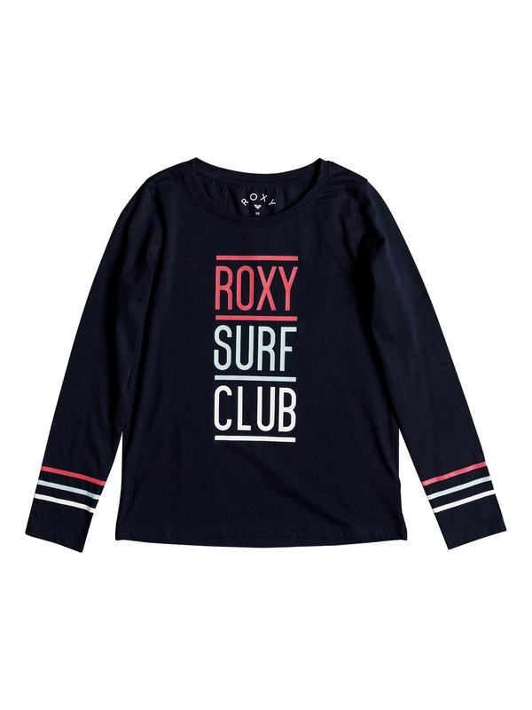 0 Girls 7-14 Lost In Dream ROXY Surf Club  Long Sleeve Tee Blue ERGZT03283 Roxy
