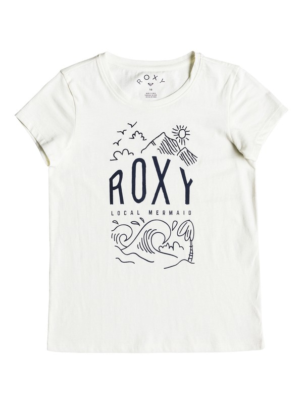 0 Girl's 7-14 See You Again Night Surf Tee  ERGZT03284 Roxy