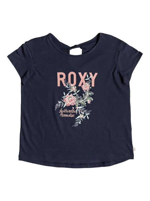 0 Girls 7-14 Wedding Bells Tee Blue ERGZT03313 Roxy