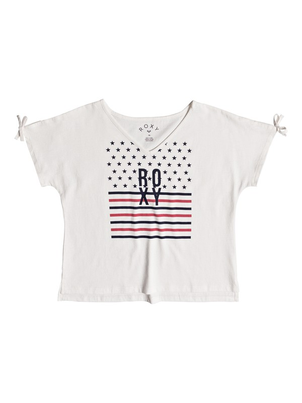 0 Girl's 7-14 Simple Touch Tee White ERGZT03319 Roxy