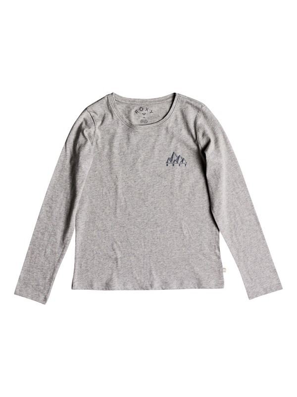 0 Girls 7-14 Gradual Awakening Long Sleeve Tee Grey ERGZT03327 Roxy