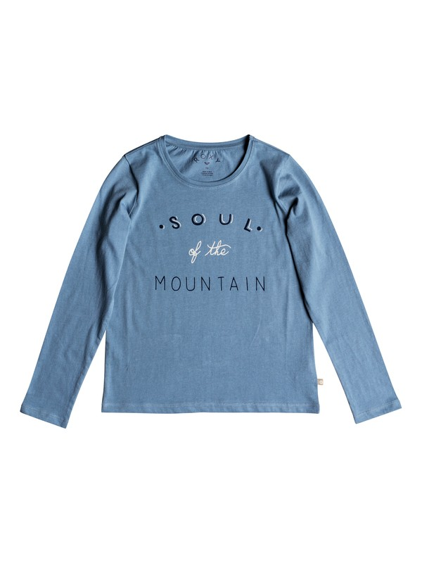 0 Girl's 7-14 Gradual Awakening Soul Of The Mountain Long Sleeve Tee Blue ERGZT03345 Roxy