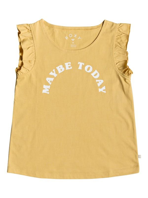 0 Girls 7-14 Dive Deep Maybe Ruffle Tank Yellow ERGZT03347 Roxy