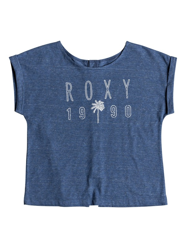 0 Playera de Manga Corta Urban Stories Azul ERGZT03366 Roxy