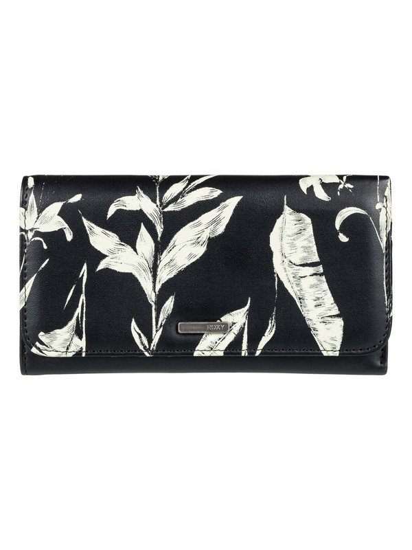 0 My Long Eyes - Snap Closure Wallet Black ERJAA03309 Roxy