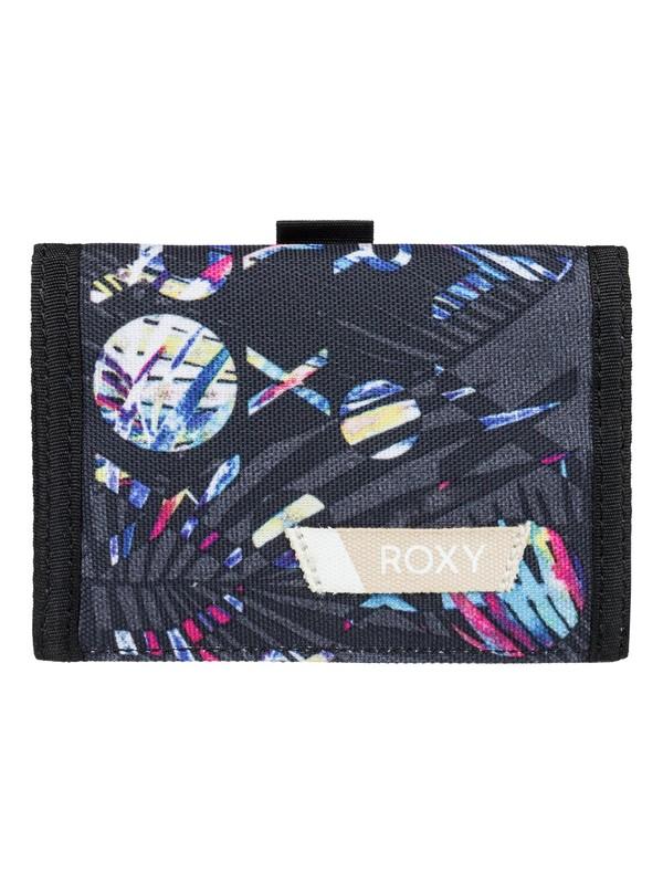 0 Small Beach - Dreifach faltbares Portemonnaie für Frauen Schwarz ERJAA03387 Roxy