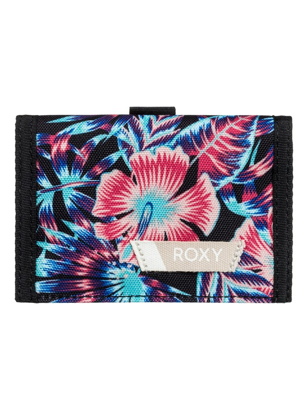 0 Small Beach - Tri-Fold Wallet for Women Black ERJAA03387 Roxy
