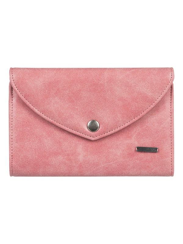 0 Stop Here Tri-Fold Wallet Pink ERJAA03440 Roxy