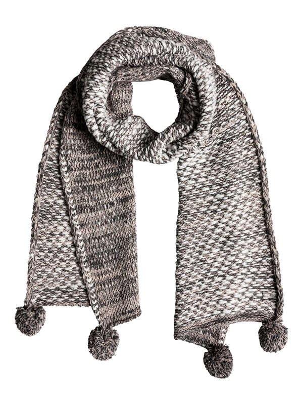 0 Corner Of The Fire Knitted Scarf Grey ERJAA03484 Roxy