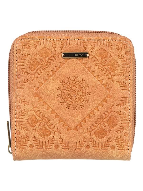 0 Carry A Heart Zip-Around Wallet Beige ERJAA03512 Roxy